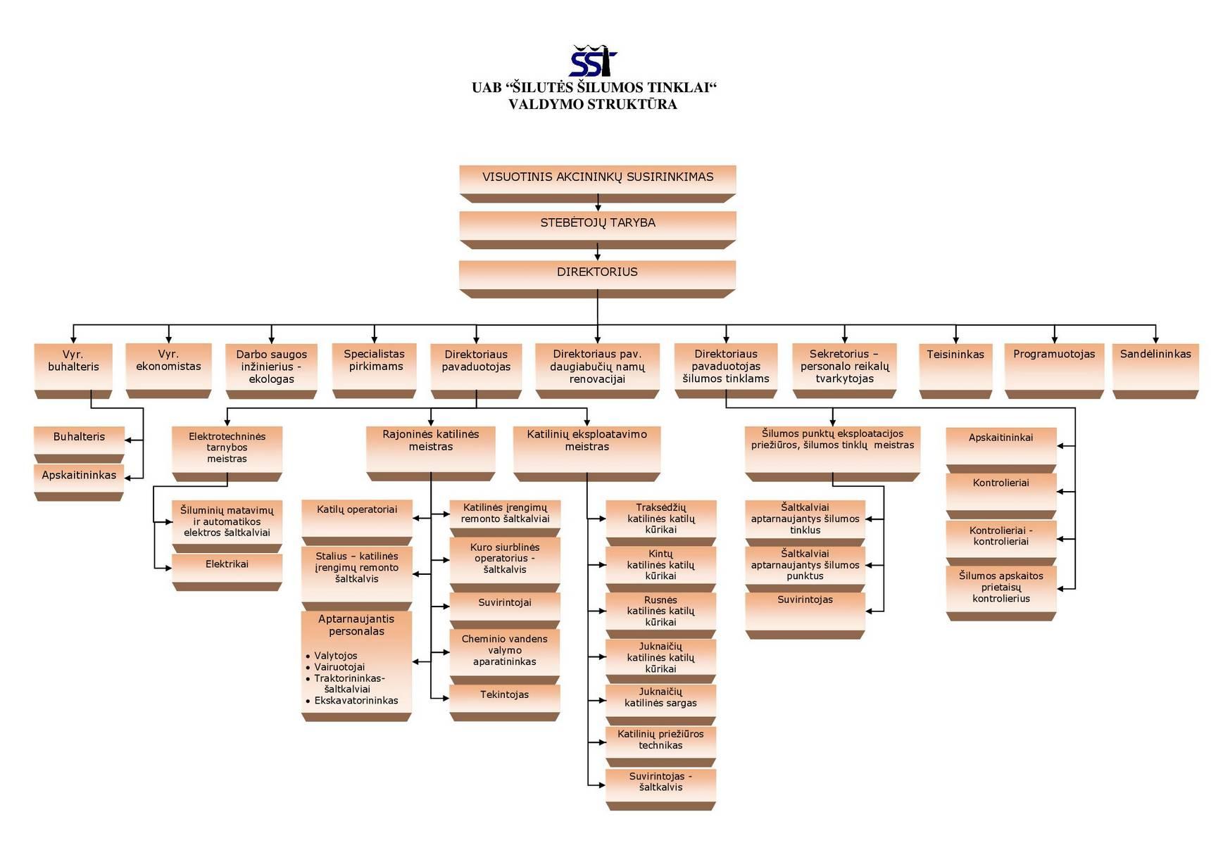 Šilutės ŠT valdymo struktūros schema